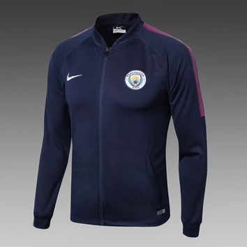 KUYOU Manchester City 2017/18  Men Training  Jacket-Royal Blue