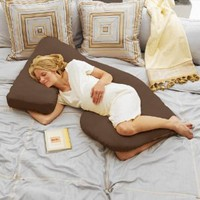 Cozy Cuddler Total Body Pregnancy Pillow - Espresso