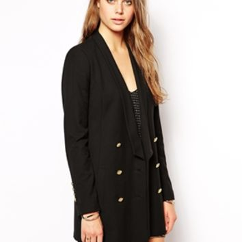 Supertrash Jaguar Blazer in Longline Length - Black