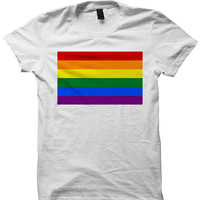 Gay Pride T-shirt Rainbow T-shirt Ladies Tee Unisex Clothing Mens Shirts LGBT Shirts #LGBT Cheap Shirts Birthday Gift Christmass Gifts