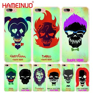 HAMEINUO Suicide Squad Joker Harley Quinn cell phone Cover case for iphone 6 4 4s 5 5s SE 5c 6 6s 7 8 X plus