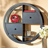 Contemporary Round Wall Shelves