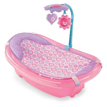 Summer Infant Sparkle Fun Newborn-to-Toddler Baby Bather (Pink)