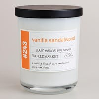 Vanilla and Sandalwood Soy Filled Jar Candle - World Market