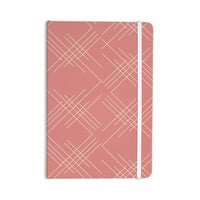 "Famenxt ""All A Blaze Abstract"" Coral Beige Illustration Everything Notebook"
