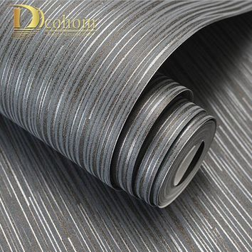 Fashion Simple Solid Color Striped Wallpaper For Walls 3D Home Wall Paper Rolls For Bedroom Living Room Sofa TV Background Decor