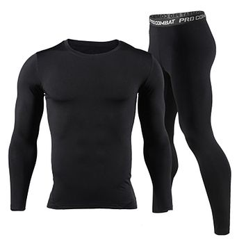 2017 New Men Long Johns Winter Thermal Underwear Sets Brand Quick Dry Anti-microbial Men's Stretch Warm Thermo Underwear Spring