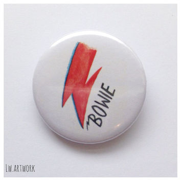 David Bowie Logo 25mm Badge Button