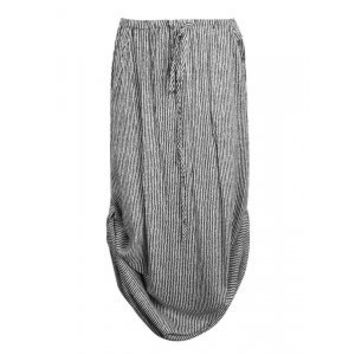 MAXI SKIRT WITH SIDE TABS IN STRIPE