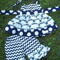 NFL Licensed Dallas Cowboys Fabric Hadley's Top and Ruffle Capris/Boutique Clothing/Girls Sets/NFL Clothing/Dallas Cowboys