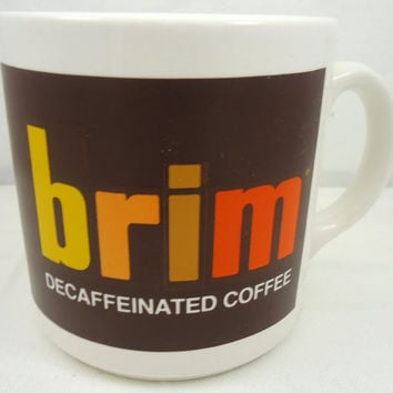 Brim Coffee Vintage Advertising Coffee Cup 1970s