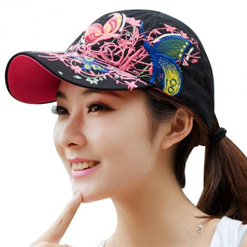 Hot Fashion Lady Women Outdoor Sports Print Tennis Hat Baseball Cap