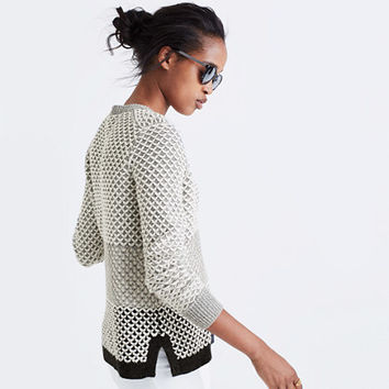 Geo-Block Pullover Sweater