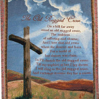 Old Rugged Cross I Wall Tapestry Afghans
