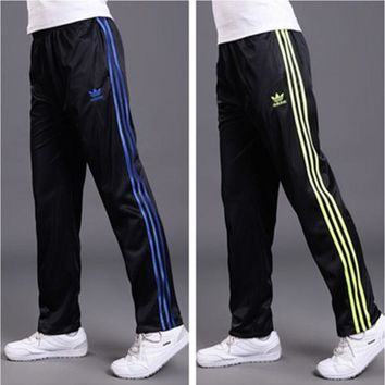 DCCK6HW Adidas' Unisex Classic Clover Three Stripe Long Sweatpants Couple Casual Pants