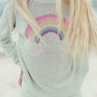 ISLAND RAINBOW MINI 70'S SWEATER | WOMEN | WILDFOX WHITE LABEL - Hunters and Gatherers