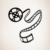 Vinyl Wall Decal Sticker Movie Film Roll #OS_MB424B