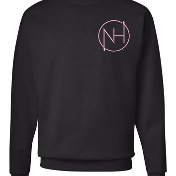 "Niall Horan ""NH Outline Logo in Corner"" Crew Neck Sweatshirt"