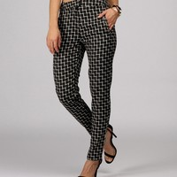 Sale-black Check Me Out Trouser Pants