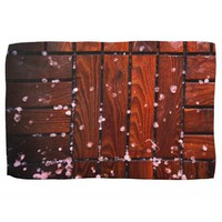 Cool Brown Wooden Ply texture With Wintry Snow Ice Hand Towel