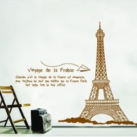 """X Large Contemporary Eiffel Tower Paris France Approx 60"""" Inches or 5 Feet Wall Sticker Decal:Amazon:Home & Kitchen"""