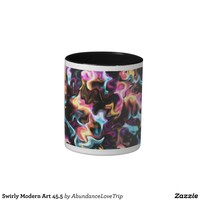 Swirly Modern Art 45.5 Coffee Mug from Zazzle.com