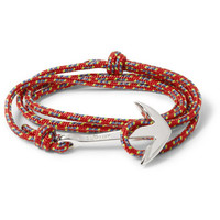 Miansai Rope and Silver-Plated Anchor Bracelet | MR PORTER