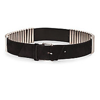 McQ Alexander McQueen - Metal-Trimmed Leather Belt - Saks Fifth Avenue Mobile