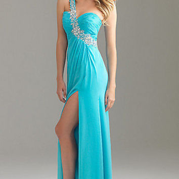 One Shoulder Prom Dress by Night Moves 6424