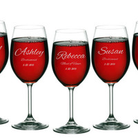 Wine Glasses, Personalized Maid of Honor Gifts, ANY QUANTITY, Wedding Toasting Glasses, Gift for Maid of Honor