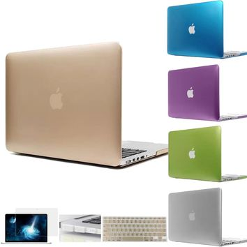 Cool The Latest Metal Color Rose Violet Champagne Gold Silver Sleeves Cover Case for Macbook air 11 12 13 pro 13 15 retina 13 15