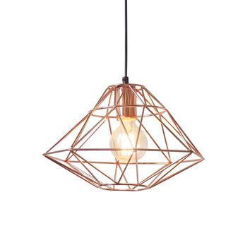 Wellington Industrial-chic Copper Pendant Lamp