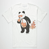 RIOT SOCIETY Panda Pizza Bubble Mens T-Shirt | Graphic Tees