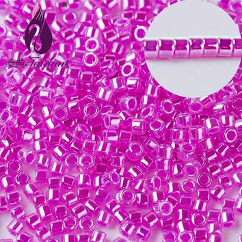 Taidian Top quality DIY BeadWork Clear seed beads Delica Loose Beads made in japan 11/0 1.6MM 10 grams/lot about 2000 pieces DB7
