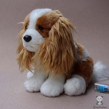 Cavalier King Charles Spaniel Puppy Stuffed Animal Plush Toy 10""