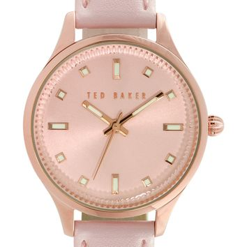 Ted Baker London 'Dress Sport' Leather Strap Watch, 32mm | Nordstrom