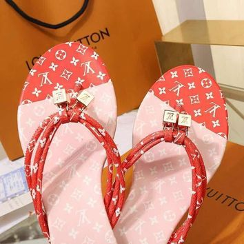 LouisVuiton LV Double buckle with logo Fashion casual sandals-1