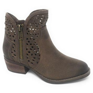DCCKAB3 Not Rated Etta Taupe Cut-Out Ankle Booties