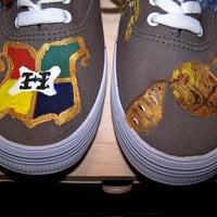 Hand-painted Harry Potter shoes- toes painted only