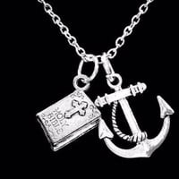 Anchor Holy Bible Religious Christian Charm Gift Necklace