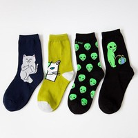 Harajuku Cotton Socks Cat, Alien Socks