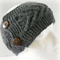 Cable Knit Ear Warmer // Neck Warmer // CHOOSE YOUR COLOR // Premium Wool Alpaca Blend Yarn // Fall Fashion Accessories