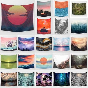 150cm*130cm Nature of the landscape tapestry home life decoration wall wall hanging bedroom bedspreads cushions
