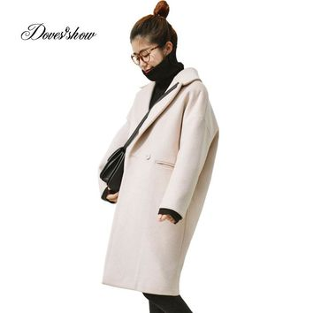 New Women Autumn Cape Coat Winter Jacket Long Plaid Wool Coat Mujer Overcoat Casaco Feminino Female Jacket Outwear Blends