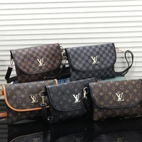 *Louis Vuitton* Women Leather Fashion Crossbody Shoulder Bag