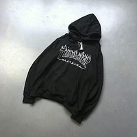 thrasher flame hooded