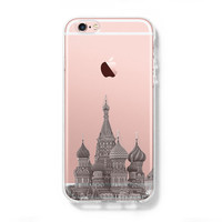 Moscow Kremlin Russia Cityscape iPhone 6s Clear Case iPhone 6 Cover iPhone 5S 5 5C Hard Transparent Case C012