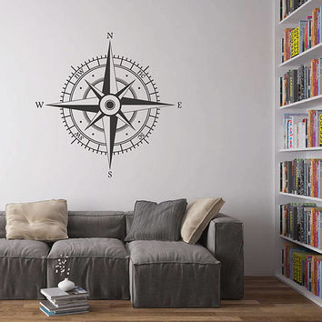 kik2977 Wall Decal Sticker compass living room bedroom