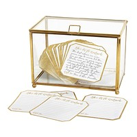 Wedding Gilded Gold Advice Keepsake Box