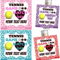 5 Pc Tennis Favors/Tennis Girl Party/Girl Tennis Favors/Tennis Chapstick/Tennis Team Party/Tennis Award/Tennis Party Favor/Girl Tennis Favor